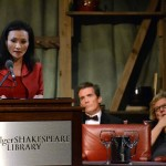 Author Vaddey Ratner reads in the Elizabethan Theatre.