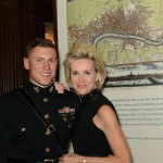 PEN/Faulkner board member Mary Haft and son Michael, a Lieutenant in the United States Marine Corps.