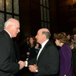 Benefit committee co-chair and Vermont Senator Patrick Leahy and emcee Calvin Trillin.