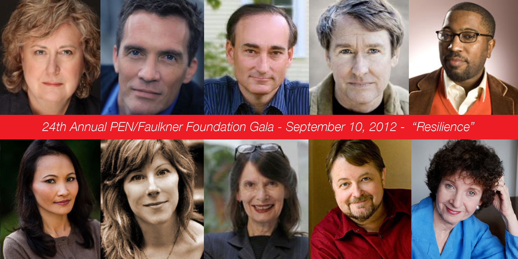 2012 PEN/Faulkner Gala Author Photos