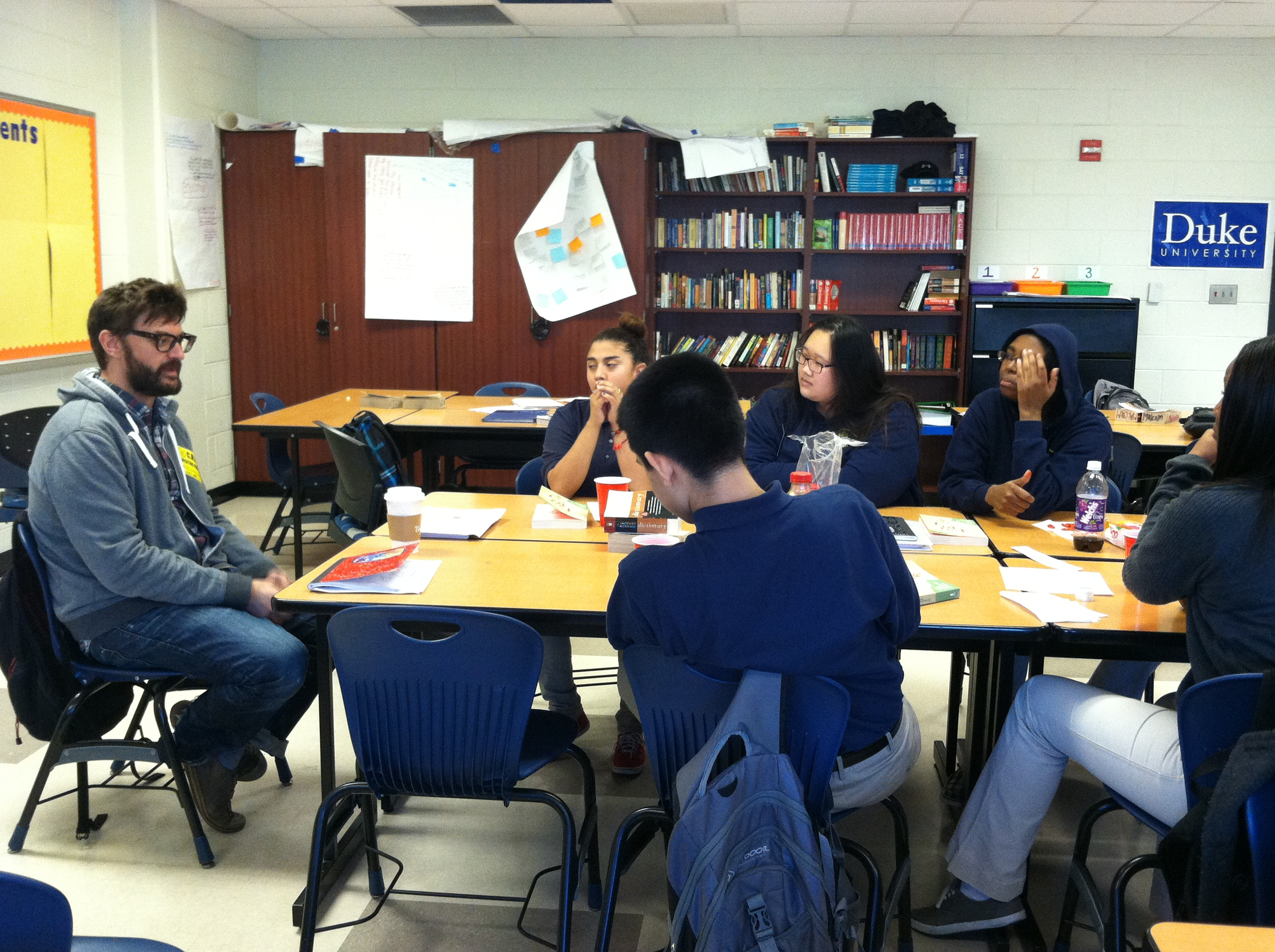 Author Federico Falco Discusses Short Fiction with Students