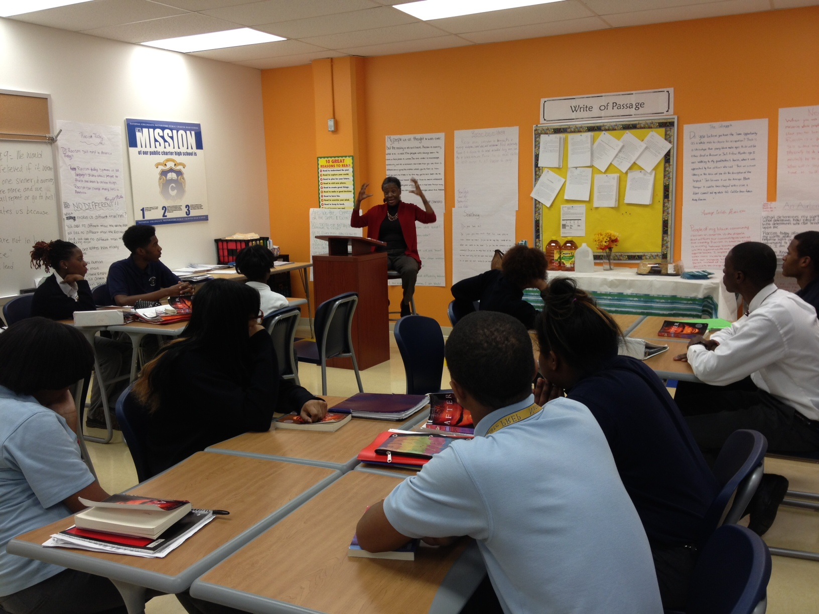 Marita Golden at National Collegiate Preparatory Public Charter School