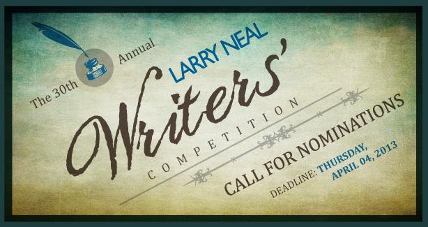 Graphic for 30th annual Larry Neal Writers' Competition