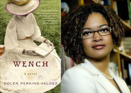 Novel jacket image on left. Author photo on right. Full color images.
