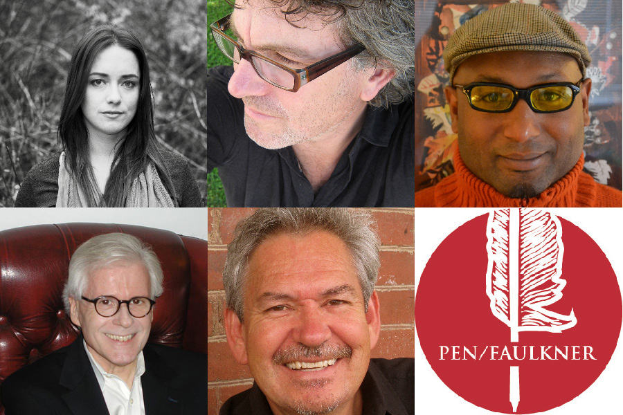 Composite image of 2013 PEN/Faulkner Award for Fiction finalists and winner