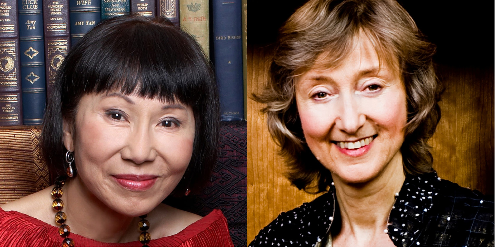 Authors Amy Tan (left) and Deborah Tannen (right)
