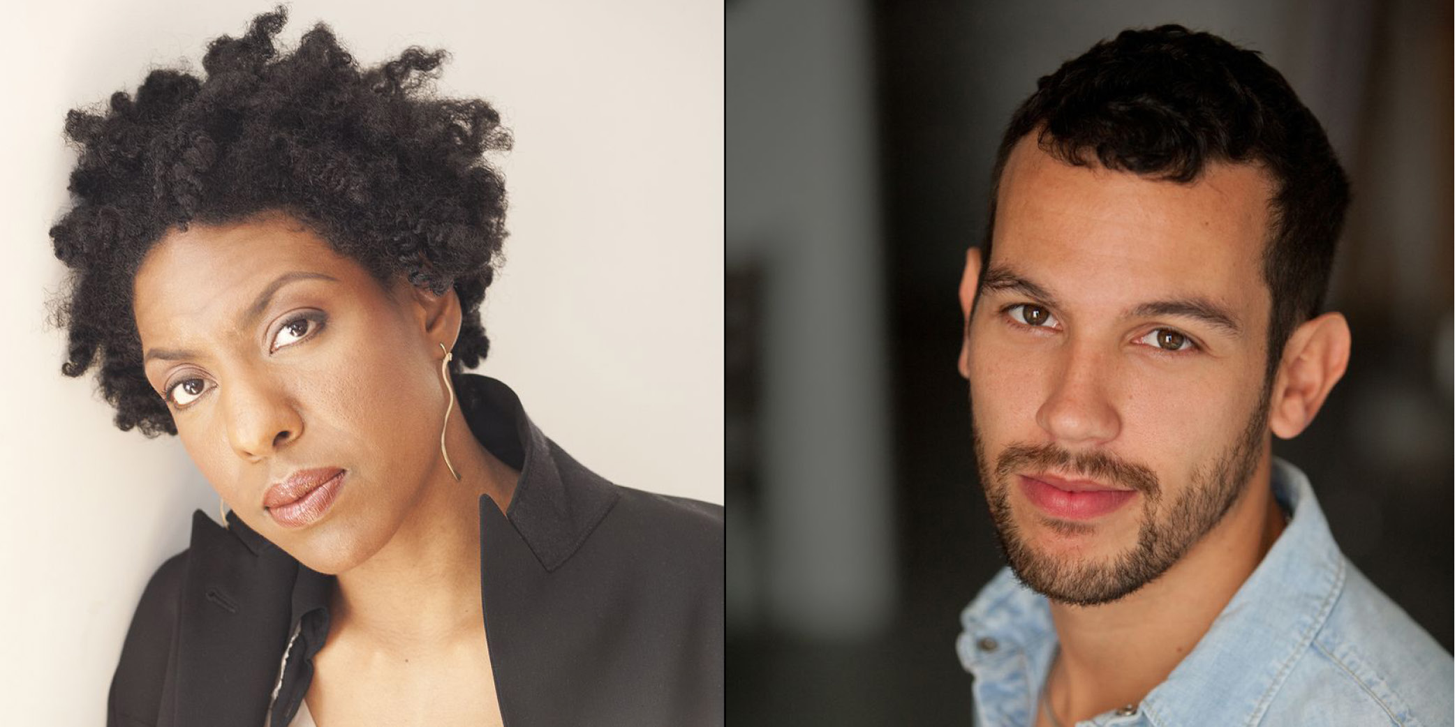 Authors Ayana Mathis (left) and Justin Torres (right)