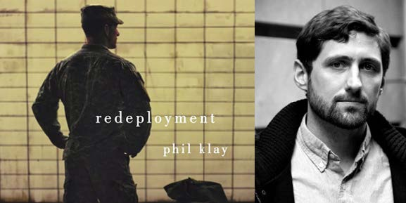 Jacket image (left) of Redeployment and author photo of Phil Klay (right), ©Hannah Dunphy